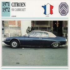 1971-1972 CITROEN SM CABRIOLET Classic Car Photograph / Information Maxi Card