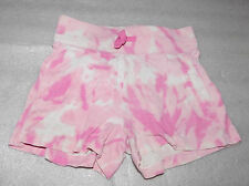 TCP Childrens Place Girls Pink White Tie Dye Cotton Shorts Drawstring Waist 5