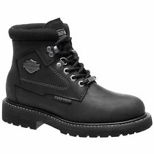 Harley Davidson Bedon Black Womens Leather Combat Ankle Boots