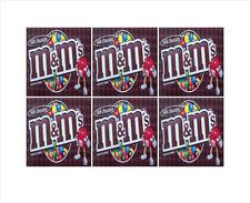 "6 Inside Mount vendstar VENDING candy gumball labels Sticker 2.5 x 2.5"" m&m plai"