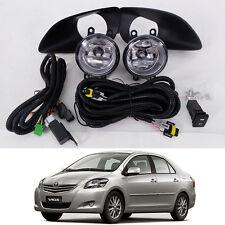 Set Kit Fog Lamps Spot Lights For Toyota Belta Vios/Yaris 4DR Sedan 2007-2012