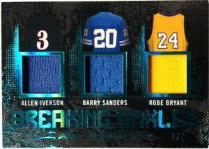 2020 Leaf ITG Used Sports #BA-05 Kobe Iverson Sanders Triple Relic Patch 2/7
