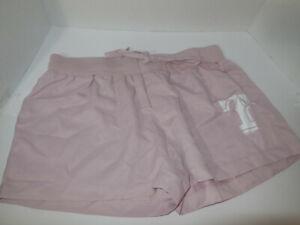 New Women's Texas Ranger Drifit Rose Pink Lounge Logo Shorts MLB Size Med