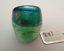 Style Glass Ring. Uk-M.Us-6.25.(88!) A Split Silver/Blue Lampwork/Murano
