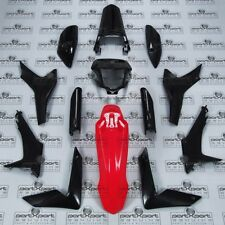 HONDA CRF CRF250 CRF250L -F FAIRINGS PANEL SET + DECALS BLACK RED GENUINE 2012-1
