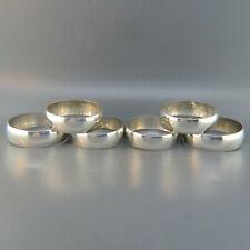 Set of 6 Gorham Sterling Silver Napkin Rings