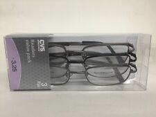 Lot of 3 Reading Glasses Jacob Gun +3.25 New in Package