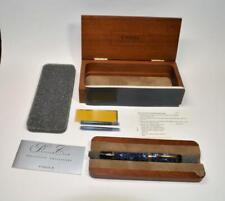 NIB Parker Duofold Centennial Blue Marble Fountain Pen 18k gold M 83 nib RARE!