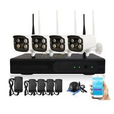 4CH Home Security HD IP Camera Wireless Video Surveillance System