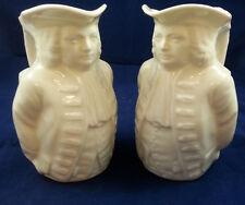 Pair of Lenox Commemorative Toby Jugs - William Penn Treaty with Native American