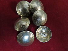 BUTTONS: Indian Nickle real coin, 6 with stem loop