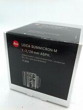 (#07-20-1005) imballaggio Leica Summicron-M ASPH. 1:2/28mm n. 11604