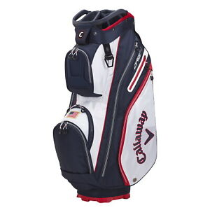 Callaway ORG 14 Cart Golf Bag - White/Navy/Red Flag - New 2021
