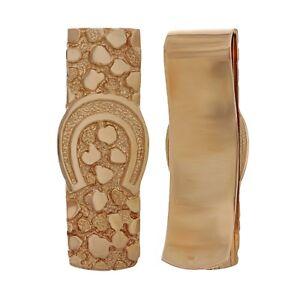 14k Rose Gold Horse Shoe Nugget Money Clip Money Holder Wallet 17.2 grams