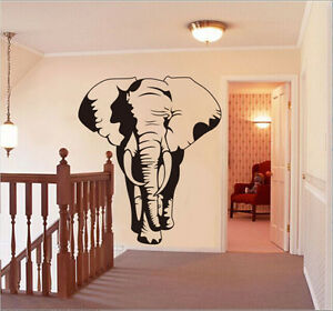 Black Elephant bed room living room Wall Sticker Art Decal UK RUI66