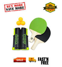 New listing Pong on the Go! Portable Table Tennis Playset with Net Paddles Balls & Carry Bag
