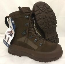 HAIX BROWN SUEDE DESERT HIGH LIABILITY COMBAT BOOTS - Size: 9 wide British Army