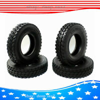 4pcs 1:14 Rubber Tires Tyres For Tamiya Tractor Truck Trailer Climbing Car Model