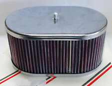 "WEBER 40DCOE 45DCOE 48DCOE Chrome Air Filter assembly - 3 1/4"" tall"