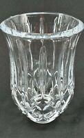 Vintage Leaded Cut Glass Crystal Diamond Light Shade Clear Bell Shade Sconce