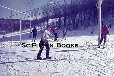 AGFACHROME 35mm Slide Skiing Skiers Ski Lift Poles Goggles Gloves Hats 1963!!!