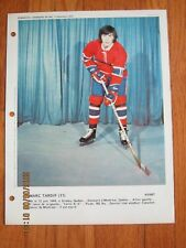 Dimanche Derniere Heure December 17 1972 Marc Tardif - Montreal Canadiens      Z