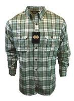 Guide Gear Mens XL Button Up Shirt Long Sleeve Plaid Outdoor Lightweight NEW