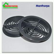 ANTHRACITE GREY| 70mm SOFFIT ROOF AIR VENT | UPVC/Soffit Board | Eaves | Disc