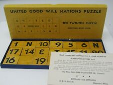 Vintage United Good Will Nations Wood Puzzle Howard Symonds Maynard Mass.