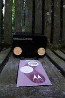 Vintage BROWN Motorola Model 56A Tube AM Bakelite Portable Radio. MANUAL. WORKS