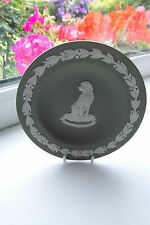 Wedgwood Dish Guide Dogs for the Blind Labrador Green Jasperware Special Edition