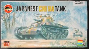 Airfix 1/72nd Scale Japanese CHI Ha Tank Kit No. 01319 in open box!