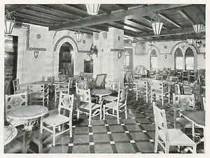 D1512 Augustus - La veranda in stile siciliano - Stampa antica - 1928 old print