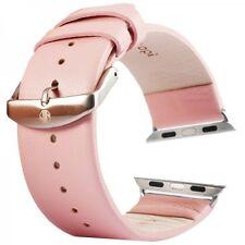 Echtleder Leder Armband Rosa für Apple Watch Lederarmband 42mm iWatch Zubehör