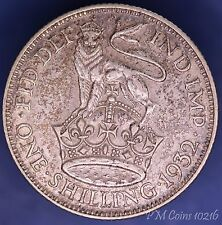 1932 George V KGV Silver 500 Shilling 1/- coin *[10216]