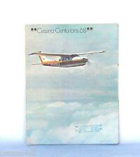 CESSNA CENTURION '68  Factory Sales Brochure & Price List 1968 Vintage Rare Gift