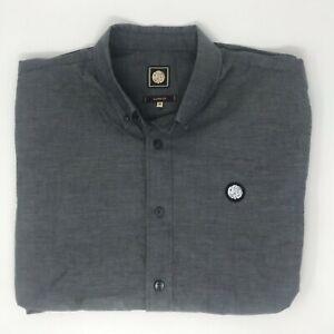 Pretty Green ELXG/4103/7831 Men's Long Sleeve Regular Fit Casual Shirt MEDIUM