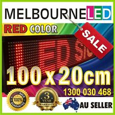 LED Sign Scorolling Programmable Message Board 100x20cm RED Color with Software