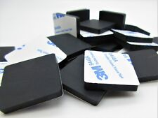 """1"""" Sq. X 1/4"""" H Silicone Rubber Feet for Lab & Medical Equip. 3M Adh. Back"""