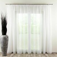 Sheer Curtains Custom made any size-silk Ready to hang linen natural voile
