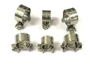 Mini Hose Clips 304 Stainless Steel Hose Pipe Fuel Clamps Petrol Diesel Line