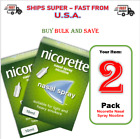 """2 PACK - Nicorette Nasal Spray 10ml """"""""SHIPS SUPER FAST FROM USA"""""""""""