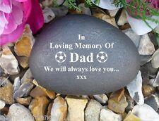 Memorial Gift Personalised Pebble (Stone effect) DAD/Football
