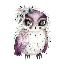 Owl Purple Heat Transfers Sticker Patches Iron on Clothes Fabric Painting DIY