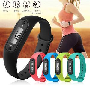 Fitness Digital Pedometer Walking Step Distance Calorie Counter Run Wrist-Watch