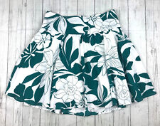 Roxy womens jrs 3 green white floral tropical print short A-line skirt