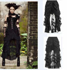 RUFFLE Gothic Skirt Long Lace Layered Steampunk Dark Rock Emo Dovetail Outfit