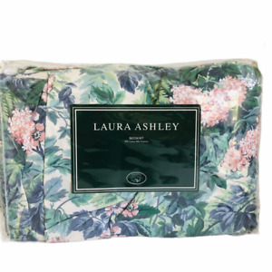 NEW Vintage LAURA  ASHLEY Ashbourne Hydrangea Floral KING Bedskirt