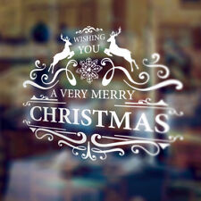 REMOVABLE MERRY CHRISTMAS HAPPY NEW YEAR WINDOWS WALL STICKERS DECAL DECORATION