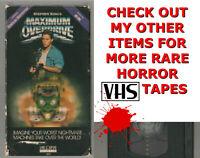 MAXIMUM OVERDRIVE Horror VHS video Movie Gore Cult Slasher Sex STEPHEN KING THE